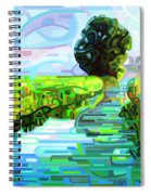 Ebb And Flow - Coppped Spiral Notebook