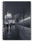 Ebertstrasse And The Brandenburg Gate Spiral Notebook