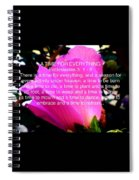 Ecclesiastes 3 A Time For Everything Spiral Notebook