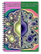 Ecclesiastes 3 A Time To Be Born And A Time To Die Fractal Spiral Notebook