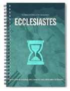 Ecclesiastes Books Of The Bible Series Old Testament Minimal Poster Art Number 21 Spiral Notebook