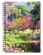 Echoes From Heaven, Spring Orchard Blossom And Pheasant Spiral Notebook