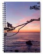 Ecola Park Sunset Spiral Notebook