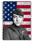 Eddie Rickenbacker And The American Flag Spiral Notebook