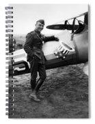 Eddie Rickenbacker - Ww1 American Air Ace Spiral Notebook