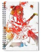 Eddie Van Halen Paint Splatter Spiral Notebook