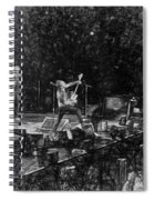 Eddie Vedder Rock God Pose Pearl Jam Spiral Notebook