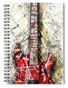 Eddie's Guitar Vert 1a Spiral Notebook
