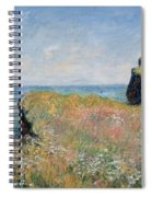 Edge Of The Cliff Pourville Spiral Notebook
