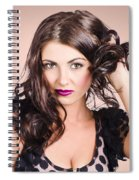 Edgy Hair Fashion Model With Brunette Hairstyle Spiral Notebook