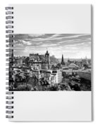 Edinburgh From Calton Hill.    Black And White Spiral Notebook