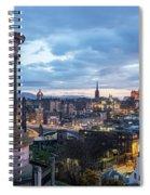Edinburgh From Calton Hill Spiral Notebook
