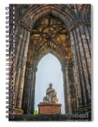 Edinburgh Sir Walter Scott Monument Spiral Notebook