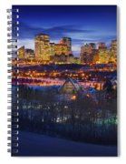 Edmonton Winter Skyline Spiral Notebook