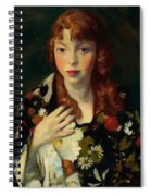 Edna Smith In A Japanese Wrap 1915 Spiral Notebook