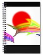 Edo Period Dolphin Screen Spiral Notebook