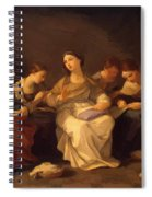 Education Of The Virgin 1642 Spiral Notebook