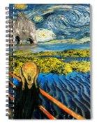 Edvard Meets Vincent Posters Spiral Notebook