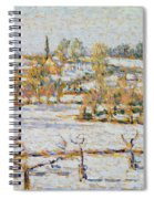 Effect Of Snow At Eragny Spiral Notebook