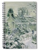 Effect Of Snow With Cows At Montfoucault Spiral Notebook