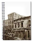Effects Of The Earthquake, Oct. 21, 1868 Railroad House, Caly St Spiral Notebook