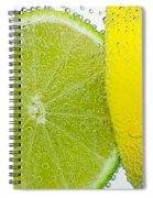 Effervescent Lime And Lemon By Kaye Menner Spiral Notebook