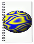 Egg In Space Blue And Yellow Spiral Notebook