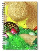 Eggs And A Bonnet For Easter Spiral Notebook