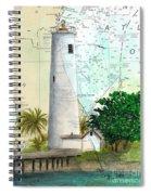 Egmont Key Lighthouse Fl Nautical Map Spiral Notebook