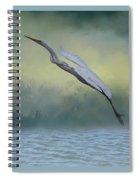 Egret Art I With Foreground Fog  Spiral Notebook