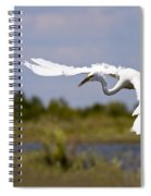 Egret Ballet Spiral Notebook