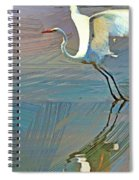 Egret Getting Ready For Take Off Spiral Notebook