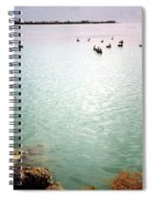 Egret On Marathon Key Spiral Notebook