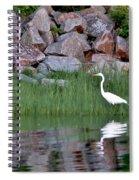 Egret On The Danvers River Spiral Notebook