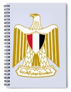 Egypt Coat Of Arms Spiral Notebook