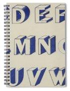 Egyptian For Carving Vintage Blue Font Design Spiral Notebook
