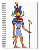 Egyptian God - Khensu Spiral Notebook