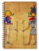 Egyptian Gods And Goddness Spiral Notebook