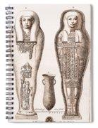 Egyptian Mummy, Illustration Spiral Notebook