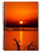 Egyptian Sunrise On Lake Nasser Spiral Notebook