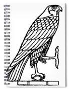 Egyptian Symbol: Falcon Spiral Notebook