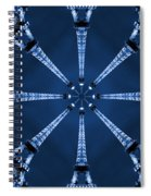 Eiffel Art 17 Spiral Notebook