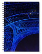 Eiffel Blue Spiral Notebook