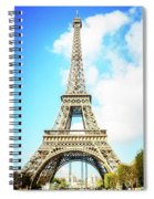 Eiffel Tower Portrait Spiral Notebook
