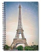 Eiffel Tower 13 Art Spiral Notebook