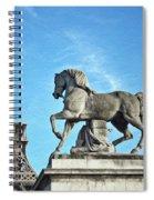 Eiffel Tower 16 Art Spiral Notebook