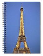 Eiffel Tower 17 Art Spiral Notebook