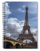Eiffel Tower And Pont D'lena Spiral Notebook
