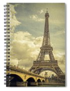 Eiffel Tower And Pont D'lena Vintage Spiral Notebook