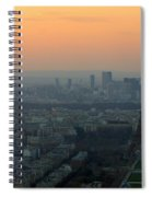 Eiffel Tower At Dusk Spiral Notebook
